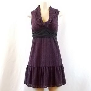 Free People Deep Purple Lace Dress